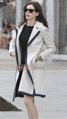 The Intern Anne Hathaway White Coat  #TheIntern #AnneHathaway