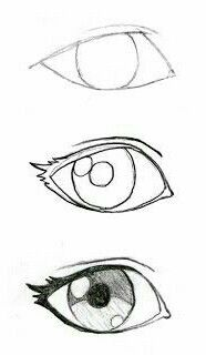 These are the best steps to draw the best eyes ❤