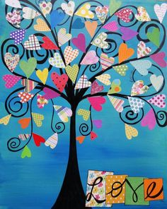 tree collage | heart collage tree | Inspiration