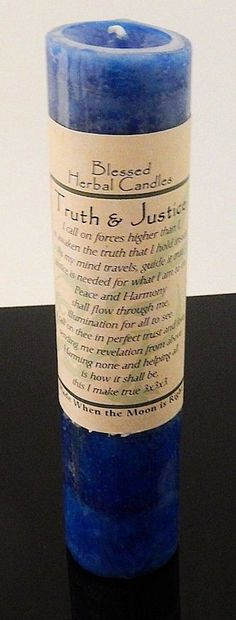 TRUTH & JUSTICE Candle Wiccan Pagan Coventry Creations Blessed Herbal candle