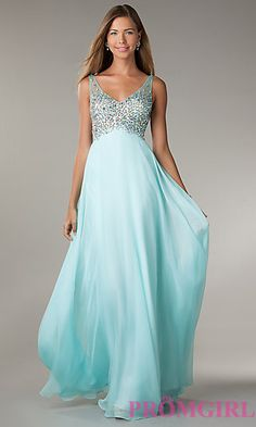 Sleeveless Beaded Prom Gown at PromGirl.com