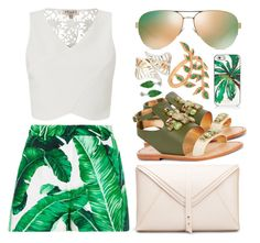 """""""Palm Shorts"""" by belli-ssimo ❤ liked on Polyvore featuring Dolce&Gabbana, Lipsy, Sanchita, Tory Burch, Allurez, Bling Jewelry and Kate Spade"""