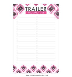Trailer Packing Checklist Notepad #stockshowlife #4H #FFA #stockshow #stockshowboutique #checklist #aztec