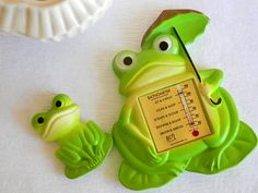 Outdoor Thermometer Frog Decor Frog Thermometer By TheGemandTheJar, $20.00