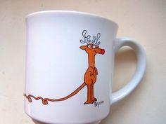 Vintage Rudolph Coffee Mug By Sandra Boynton by WylieOwlVintage, $12.00