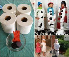 Kinder Geburtstag Spiele-Innen-Klopapier-Eis Königin Olaf-Kleid - Kindergeburtstag