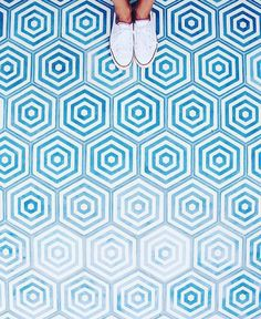 Are stripes in a hexagon still stripes? by mdsstripes Floor Patterns, Tile Patterns, Textures Patterns, Floor Design, Tile Design, Cement Tiles Bathroom, Wall Tiles, Halcyon House, Modern Flooring