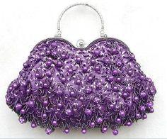 Purple wedding-purse ~ by Lori Cole for California Bridal Eventz Purple Love, All Things Purple, Shades Of Purple, Deep Purple, Purple Stuff, Purple Purse, Purple Shoes, Purple Bags, Vintage Purses