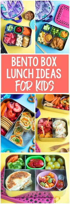 Bento Box Lunch Ideas for Kids Need some school lunch packing inspiration? I've got your back! Here are our favorite bento box lunch ideas to pack for kids! #lunch #schoollunch #bento #bentobox #vegetarian #healthy #kidfriendly<br> Need some school lunch packing inspiration? I've got your back! Here are our favorite bento box lunch ideas for little kids and big kids! Updated weekly. Kids Packed Lunch, Packed Lunch Boxes, Bento Box Lunch For Kids, Kids Lunch For School, Healthy Lunches For Kids, Toddler Lunches, Kids Meals, Daycare Lunch Box, Toddler Lunch Box