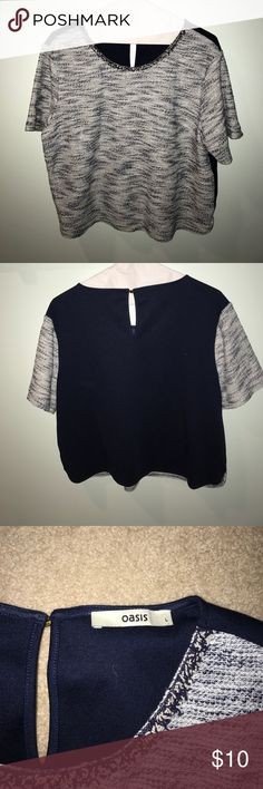 Blue and white top bought in London Nordstrom Tops Blouses