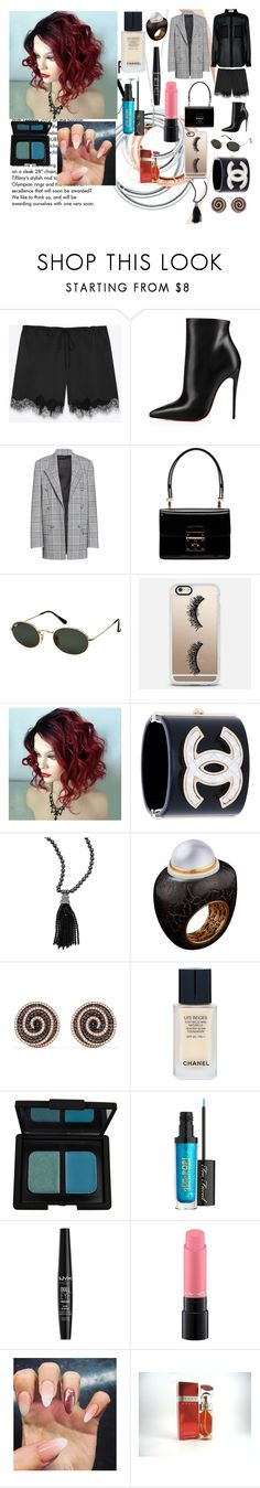 """Massive."" by it-srabina ❤ liked on Polyvore featuring Tiffany & Co., Yves Saint Laurent, Christian Louboutin, Alexander Wang, Dolce&Gabbana, Ray-Ban, Casetify, Oscar de la Renta, Alexandra Mor and Effy Jewelry"