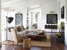 Modern And Traditional Living Room - Living Room Decorating Ideas
