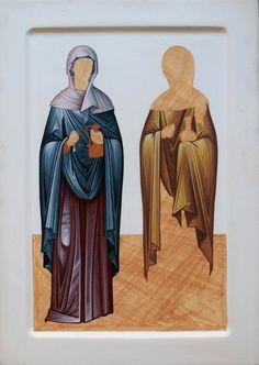 Byzantine Icons, Byzantine Art, Religious Icons, Religious Art, Greek Icons, Paint Icon, Creativity Exercises, Religious Paintings, Orthodox Icons