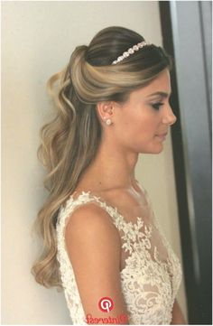 Hairstyle Hairstyle | Wedding Hair And Makeup in 2019 | Wedding hair, makeup, Bride headband, Wedding pinterest #WeddingHairstyleshalfuphalfdown #hairstyles #wedding #WeddingHairstyleshalfuphalfdownwithtiara #weddinghairstyles Country Wedding Dresses, Wedding Dresses Plus Size, Elegant Wedding Dress, Boho Wedding Hair, Wedding Hair And Makeup, Hair Makeup, Hairstyle Wedding, Bride Headband, Wedding Headband