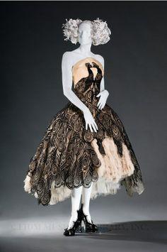 Alexander McQueen 'Peacock Dress' 2010.