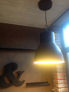 Factory on pinterest vintage industrial brick walls and exposed brick - Lampe suspendue ikea ...
