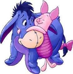My favorite character of all time is Piglet. My mom loves Eeyore. So this is me and my mom in a nutshell! Gosh i love that pig.