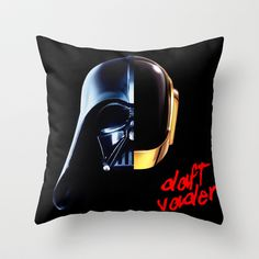 DAFT VADER Throw Pillow by Marco Lilliu - $20.00