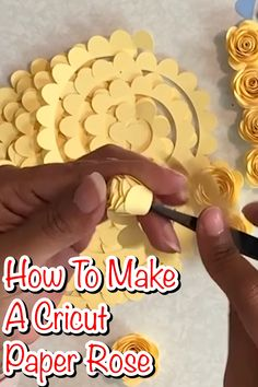 Paper Discover How To Make A Cricut Paper Rose This free paper flower template coupled with the step by step how to make a paper rose video will teach you how to make a paper rose like a pro. Free Paper Flower Templates, Paper Flower Patterns, Paper Flowers Craft, Paper Flower Tutorial, Flower Crafts, Diy Flowers, Paper Crafts, Paper Flower Making, Flower From Paper