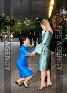 Queen Maxima and King Willem-Alexander with Princess Takamado of Japan