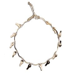 Key Hanging 18k Plated Gold Golden Anklet Chain for Feet Decoration