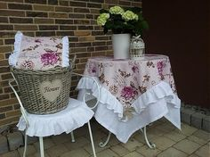 Linen tablecloth Poesie by shabby.romantic - SAShE.sk - Handmade