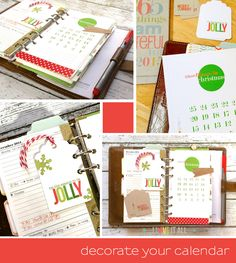 A little holiday Filofax inspiration :: I Love It All blog | Christmas Countdown Calendar + List Page Printable
