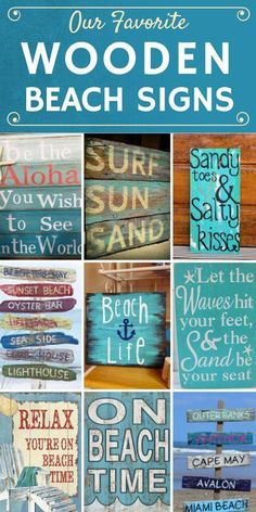 Discover the absolute best wooden beach signs you can get for your beach home. We have a huge variety of tropical, ocean, beachy, and coastal wooden signs. Beach House Signs, Beach House Decor, Home Signs, Beach Signs Wooden, Vintage Beach Signs, Driftwood Signs, Beach Bathrooms, Beach Quotes, Beach Bars