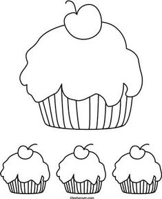 Cupcake Coloring Page Printable, Muffin Coloring Page, Free Coloring page cake, Free Coloring Page Template Printing Printable Muffin Cake, Free Coloring Pages for Kids Cupcake Coloring Pages, Food Coloring Pages, Coloring Sheets, Coloring Books, Free Coloring, Applique Patterns, Embroidery Applique, Embroidery Designs, Turkey Disguise