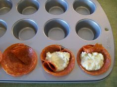Shelly's Ricotta Bake Bups    (Ricotta, parmesan, egg yolk, italian seasonings, mozzarella and pepperoni!)