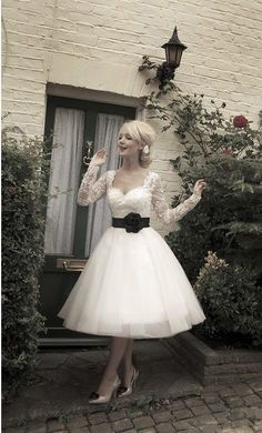 something different...very mature...short & sweet bridal dress