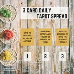 Three Card Daily Tarot Spread – Simple 3 Card Morning Oracle Divination Layout
