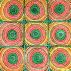 Grid With Psychedelic Rings by Heidi Capitaine
