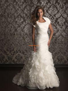 Square Summer Tiers Wedding Dresses 2014