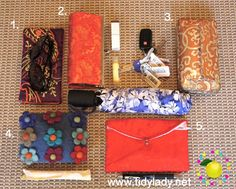 Organizing Your Purse by using a system of little pouches!  A whole tutorial with a #FREE #printable!