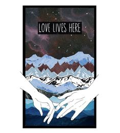 """Love Lives Here"" by decoder13 ❤ liked on Polyvore featuring art"