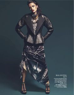 Lakshmi Menon Goes 'High Gloss', Lensed by Kevin Sinclair for Vogue India February2013 - 3 Sensual Fashion Editorials | Art Exhibits - Anne of Carversville Women's News