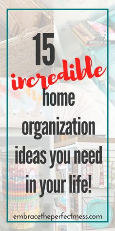 these home organization ideas are amazing, and perfect ideas for anyone!  #homeorganization #organization