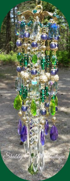 Gypsy Crystal Wind Chime by SCrystalBoutique on Etsy