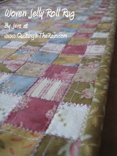 Woven Jelly Roll Rug Tutorial on the Moda Bake Shop