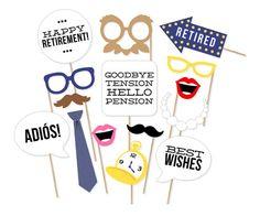 Items similar to Printable Retirement Photo Booth Props - Retirement Party Photobooth Props - Retirement Party Decorations - Retirement Photo Props on Etsy Retirement Party Decorations, Retirement Parties, Travel Decorations, Wedding Decorations, Flamingo Party, Happy Retirement, Retirement Planning, Retirement Cards, Principal Retirement