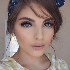 This soft vintage inspired look from @heidimakeupartist is beautiful from day to night! #lotd  Don't miss her tututorial here: youtube.com/heidihamoud.
