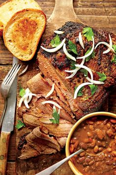 Slow-Cooked Cowboy Brisket and Beans - Time-Saving BBQ Slow-Cooker Recipes You'll Love - Southernliving. Recipe: Slow-Cooked Cowboy Brisket and Beans Channel your inner cowboy with a meal of brisket and beans from the slow cooker. Slow Cooker Chili, Crock Pot Slow Cooker, Slow Cooker Recipes, Crockpot Recipes, Cooking Recipes, Slow Cooking, Crock Pots, Cooking Turkey, Healthy Cooking