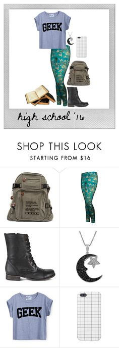"""[redone] first day of high school"" by xxlegitmuffinsxx ❤ liked on Polyvore featuring Polaroid, Steve Madden, Jewel Exclusive, women's clothing, women's fashion, women, female, woman, misses and juniors"