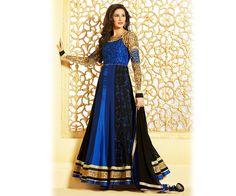 Blue Anarkali Designer Suit