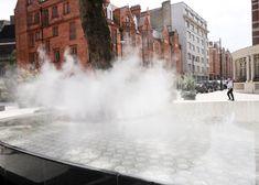 Ando, water vapour, mist, public installation