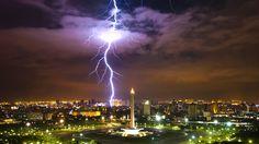 clouds java Indonesia lightning