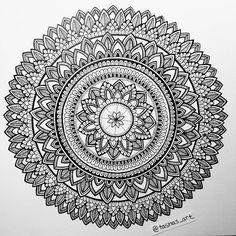 Black and white mandala #zentangles #zentangle #zentangleartist #zentangleart…