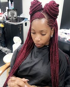 Black Girl Braids, Braids For Black Hair, Girls Braids, Braided Hairstyles Updo, African Braids Hairstyles, Cool Hairstyles, Creative Hairstyles, Braided Updo, Straight Hairstyles