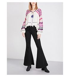 FREE PEOPLE Dreamland cotton-blend cardigan